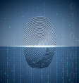 Scanning a fingerprint Technology background vector image