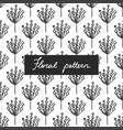 seamless pattern with small plants and flowers vector image