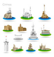 set color crimea icons drawing vector image