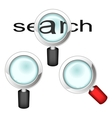 Set of magnifying glasses vector image vector image