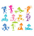 set of playing children vector image