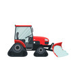 snow tractor icon in flat style isolated on white vector image vector image