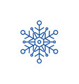 snowflake line icon concept snowflake flat vector image vector image