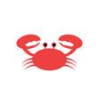 summer crab icon design vector image vector image