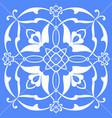 symmetrical square floral ornament tile vector image vector image