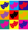 Theater icon with happy and sad masks vector image vector image