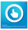 touching hand simple icon vector image
