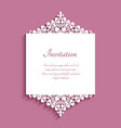 wedding invitation with cutout lace borders vector image vector image