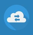 Cloud Computing Flat Icon Transfer vector image