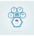 Infographic honeycomb elements with icons vector image