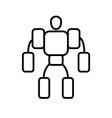 Symbol of Exoskeleton Thin line Icon of Future vector image