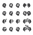 head concept icon vector image