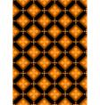 Orange flowers in brown rhombuses vector image