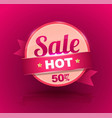 sale banner for promotion advertising vector image