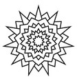 ethnic circular symmetrical pattern black and vector image