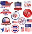 Made in the USA icons and labels