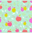 abstract pattern with apple vector image vector image