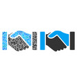acquisition handshake collage of dollars vector image vector image