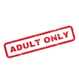 Adult Only Text Rubber Stamp vector image vector image