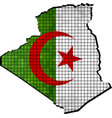 Algeria map with flag inside vector image