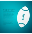 American Football ball flat icon on blue vector image vector image
