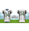 american football or soccer jerseys uniforms vector image