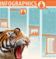 An infographics showing an animal vector image vector image