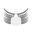 ball golf sport equipment vector image vector image