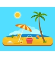 beach under a palm tree vector image