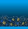 bitcoin in air technology background vector image vector image