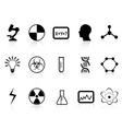 black science symbols vector image