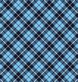 blue tartan fabric texture diagonal pattern vector image vector image