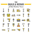 build and repair filled outline icon set vector image vector image