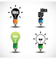bulb light and pencil creative idea concept vect vector image vector image