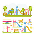cartoon bright playground full composition and vector image vector image