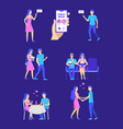 cartoon different characters people and dating on vector image