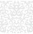 Damask pattern in white and silver vector image vector image