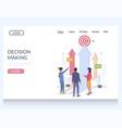 decision making website landing page design vector image vector image