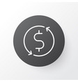 dollar exchange icon symbol premium quality vector image vector image