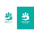 factory and like logo combination industry vector image vector image