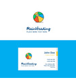 flat volley ball logo and visiting card template vector image