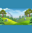 forest nature landscape 3d background vector image