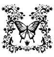 graphic element butterfly with flourishes vector image vector image
