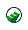 green stock exchange logo template vector image vector image
