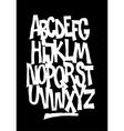 Hand lettering font alphabet vector image vector image