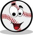 happy baseball vector image vector image