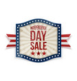 independence day sale label with ribbon vector image vector image