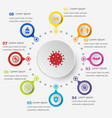 infographic template with coronavirus icons vector image