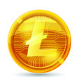 litecoin crypto 3d gold coins realistic vector image vector image