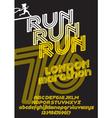 London marathon run poster vector image vector image